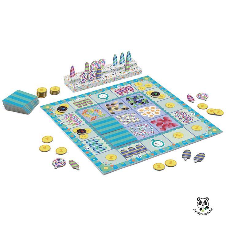 Candy Palace gazdálkodós társasjáték nyalókákkal Djeco ÚJ! | Pandatanoda.hu Játék webáruház