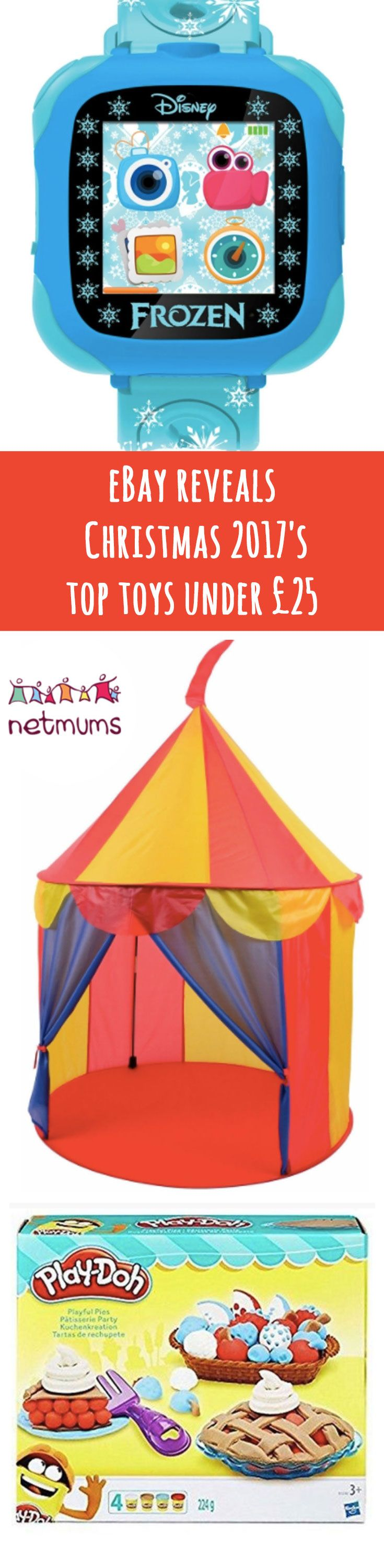 Online marketplace eBay has revealed its top toys for Christmas 2017 - and the good news is that they're all under £25!It's that time of year again! Everyone's starting to think about their Christmas shopping and wanting to get the best toys before they go out of stock.And if you're looking for toys that are under a certain price, then this eBay list is for you.All the toys included in this list are under £25, such as a Disney Frozen Camera Watch and a Pop up indoor Circus Tent.