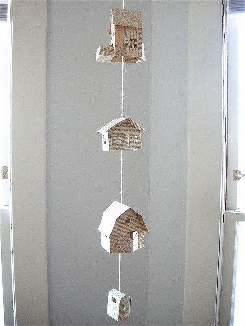 House Mobile by elsiemarley: So cute! #Mobile #House_Mobile #elsiemarley