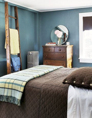 Love this ladder!: Wall Colors, Ladder, Decor Ideas, Bedrooms Design, Blue Bedrooms, Master Bedrooms, Paintings Color, Bedrooms Color, Bedrooms Ideas