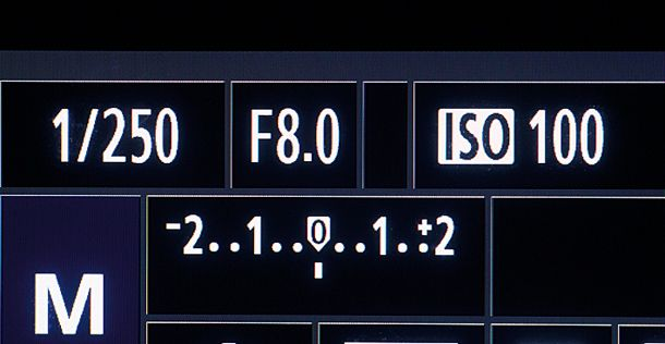 Using your exposure level indicator in manual mode: shooting midtones