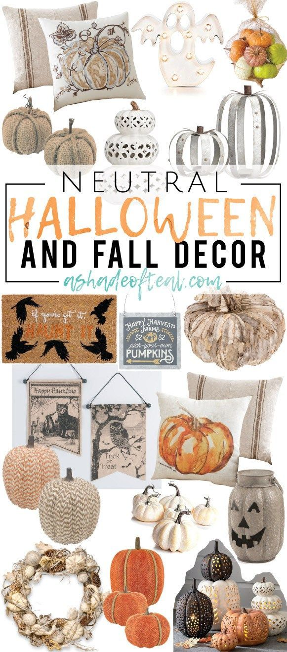 Neutral Halloween Decor! Ready to start your Halloween decorating? Then check out my list of favorite Neutral Halloween Decor!