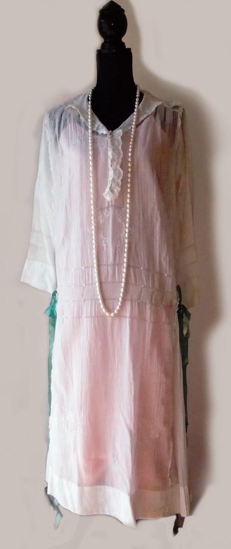 1920s voile day dress