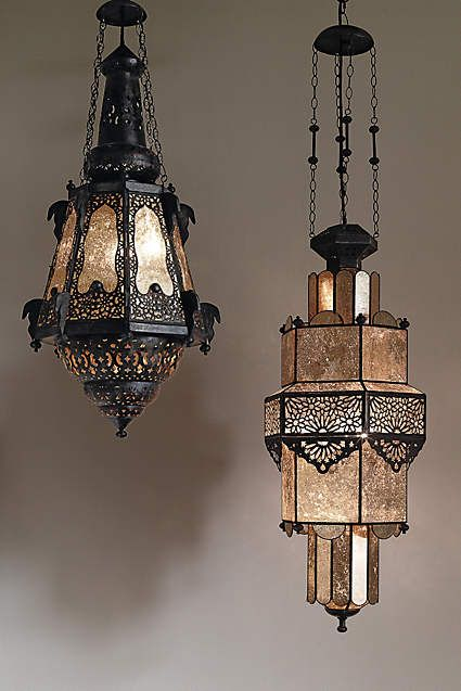 Bashira Lantern, Mercury Glass Moroccan Teardrop - anthropologie.com