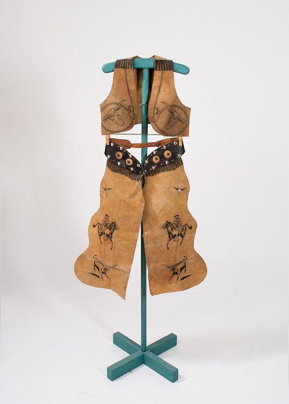 Vintage Keyston Cowboy Costume Children S Leather Chaps