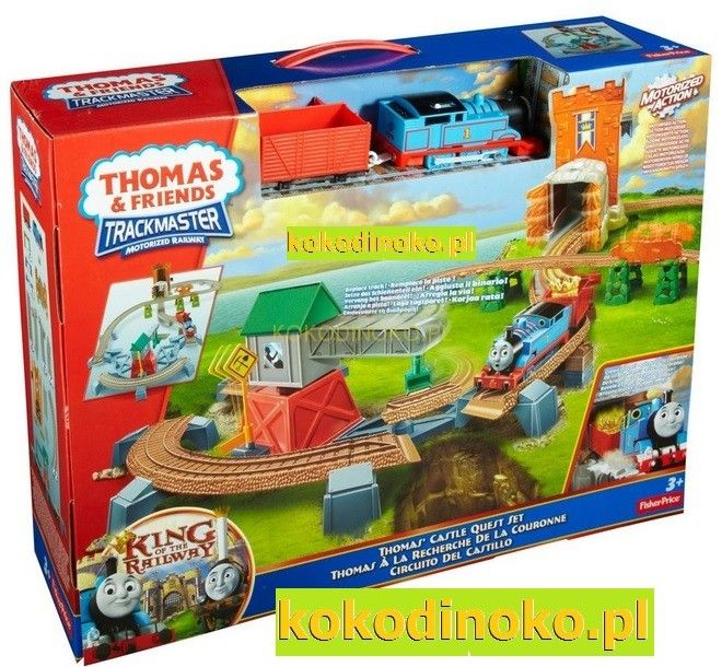 THOMAS CASTLE QUEST SET, King of the Railway, Trackmaster, Motorized, Zestaw Zamek. tory, train, Tomek i Przyjaciele, Pociąg, wagonik, lokomotywa z napędem, Thomas & Friends, Fisher Price, Mattel kokodinoko.pl