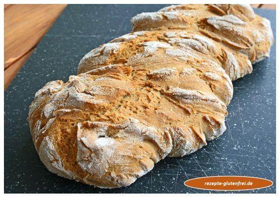 Glutenfreies Krustenbrot ohne Fertigmehl! www.rezepte-glutenfrei.de