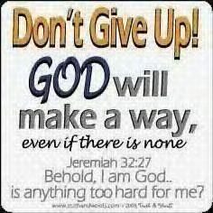 Lord, you know our situation..I stand on your word. Each word is a promise..you cannot lie. I KNOW that you will fix this and I give you the glory now, knowing what you will do <3