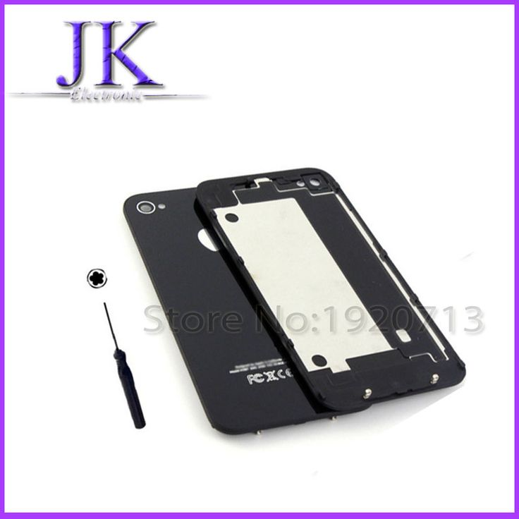 1pcs Battery Cover For iPhone 4 4G 4S Back Cover Door Rear Panel Plate Glass Housing Replacement iPhone4 Black/White with Tool #clothing,#shoes,#jewelry,#women,#men,#hats,#watches,#belts,#fashion,#style