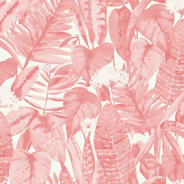 Waloo Tropical Jungle 16 5 L X 20 5 W Smooth Peel And Stick Wallpaper Roll Peel And Stick Wallpaper Jungle Wallpaper Wallpaper Roll