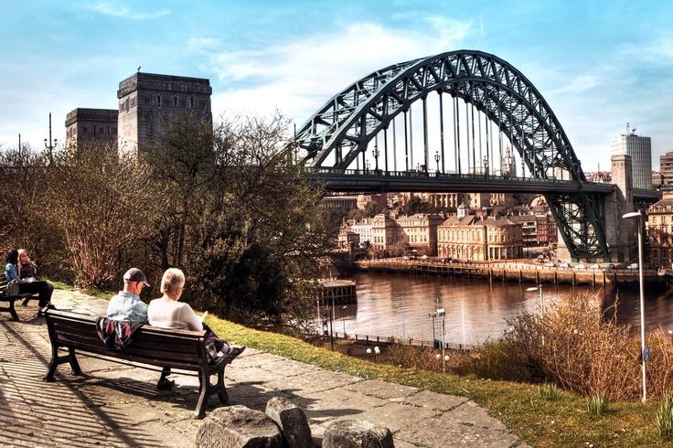 Spring Tyne Bridge HDR Panoramic Crop