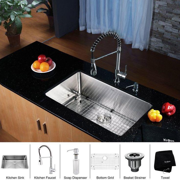 Kraus Khu100 30 Kpf1612 Ksd30 Erie Lobby Pinterest Stainless Steel Bowls And Kitchen Sinks