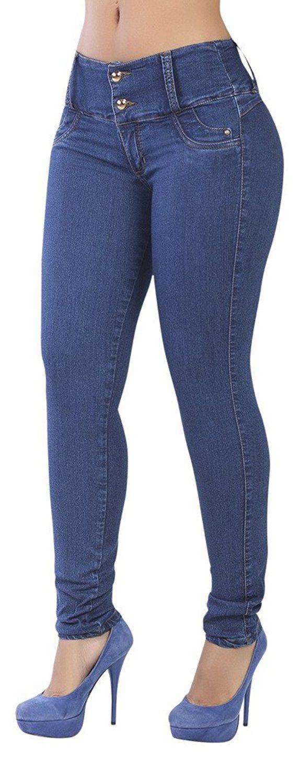 Curvify 764 Women's Butt-Lifting Skinny Jeans | High-Rise Waist, Brazilian Style Indigo Washed 13