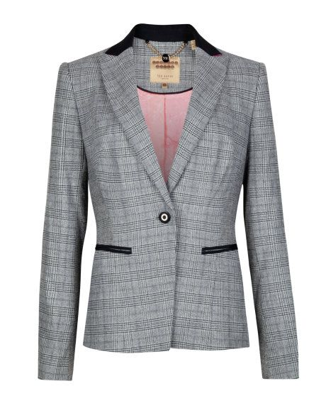 Check jacket - Grey | Tailoring | Ted Baker UK