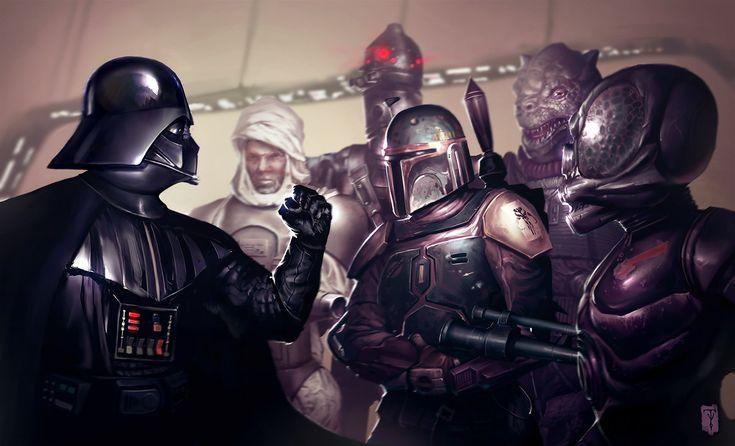 Bounty Hunters by *ArtofTy: Bounty Hunters, Darth Vader, Time Ago, Boba Fett, Stars War, Movie Stars, Desktop Wallpapers, New Art, Tyler James