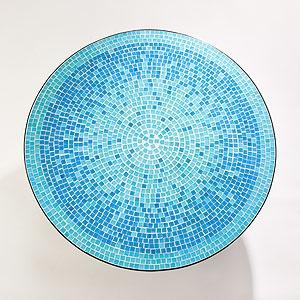 Turquoise Cadiz Mosaic Bistro Table