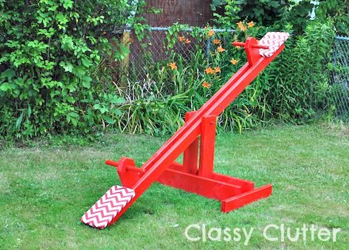 Build a seesaw and put it in your yard for less than $30 | Offbeat Mama
