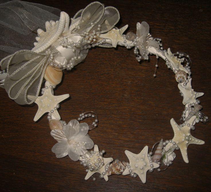 Beach Wedding Bridal Headpiece with Starfish by artseero on Etsy, $45.00