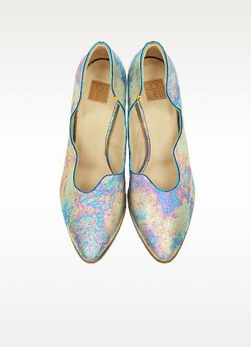 Multicolor Marlon Metallic Fabric and Leather Pump - Zoe Lee