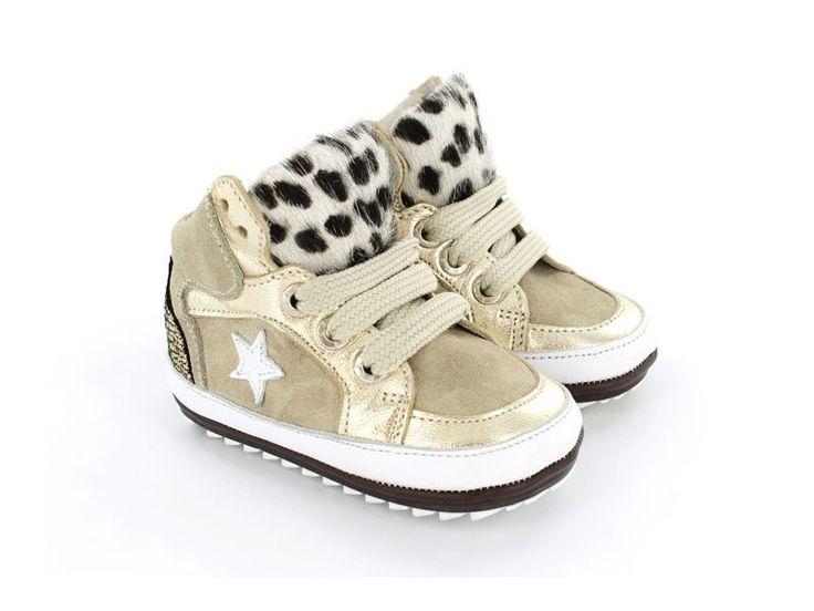 Babyproof Smart Babyschoenen - Speciaal voor de eerste stapjes - Sneaker - Beige - Pony hair - Camouflage - Meisjes - 18-22