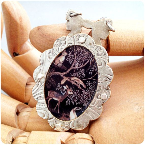 Cute Scalloped Woodland Creature Necklace