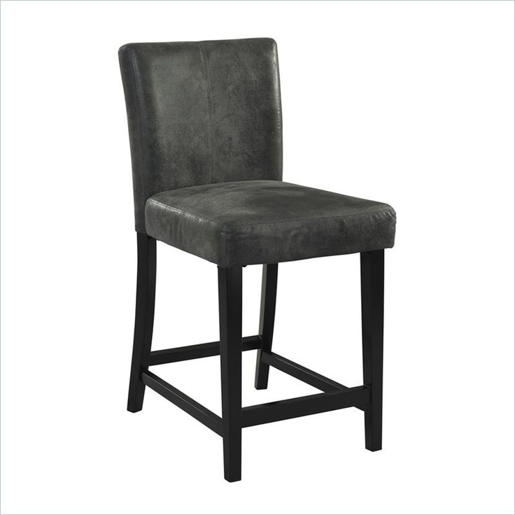 24 Quot Counter Stool In Black And Charcoal Kitchen Designs