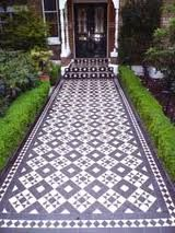 Victorian tiled pathway