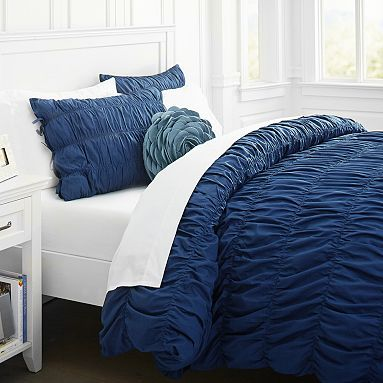 navy blue duvet cover sets twin ruched sham royal accent color uk