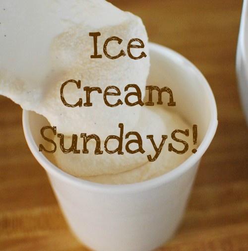 Ice Cream Sundays- I like this idea for hospitality!  Recipes for homemade ice cream too!