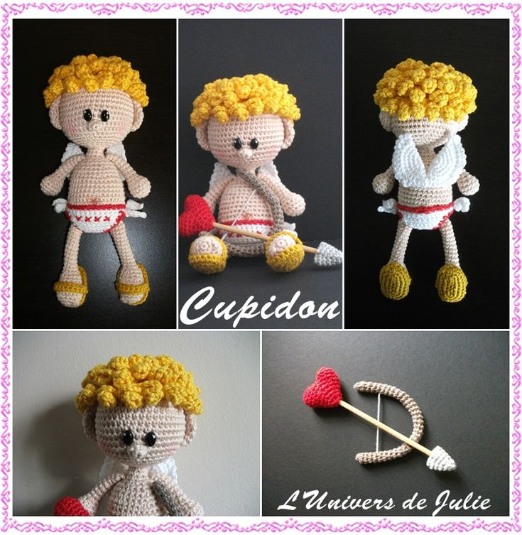 Cupidon mes amigurumis crochet pinterest - Image de cupidon gratuite ...