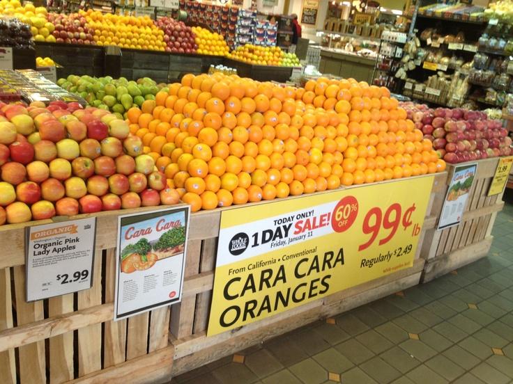 Whole foods produce department citrus Caixa de frutas