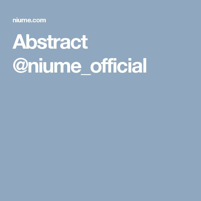 Abstract @niume_official