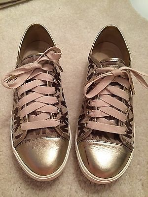 Michael Kors Brown/Signature Bronze MK City Sneaker Sz 7.