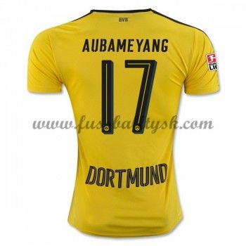 Bundesliga Fussball Trikots BVB Borussia Dortmund 2016-17 Aubameyang 17 Heimtrikot Kurzarm