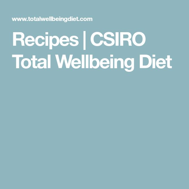 Recipes | CSIRO Total Wellbeing Diet