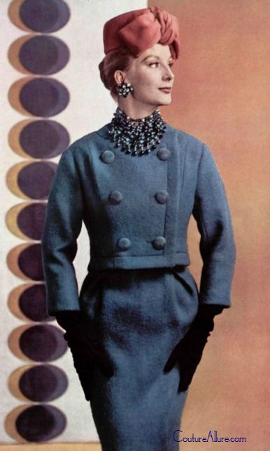 1959 Christian Dior wool suit.