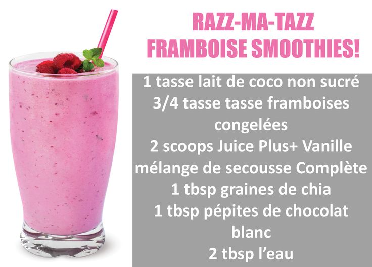 #Smoothies #Framboise #Été #SainesHabituDesDevie #JuicePlusCanada…
