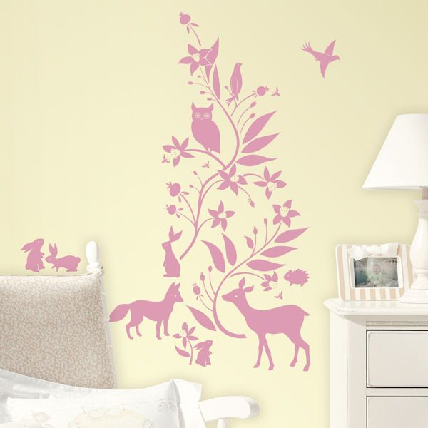 Kids Teen Roommates Forest Friends Peel And Stick Giant Wall Decals Room  Playroom