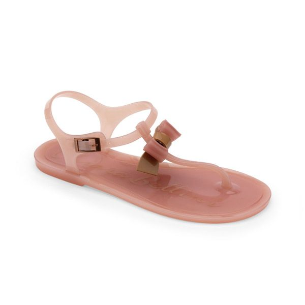 Chiara Bellini: Pvc Thong Sandal With Two Color Pvc Bow