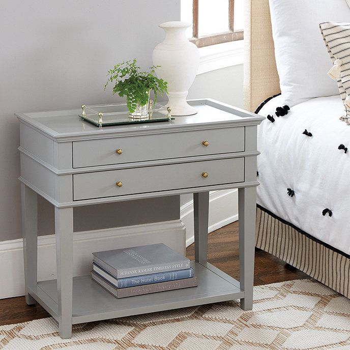Grace 2 Drawer Open Shelf Side Table A Amp L Master Bedroom