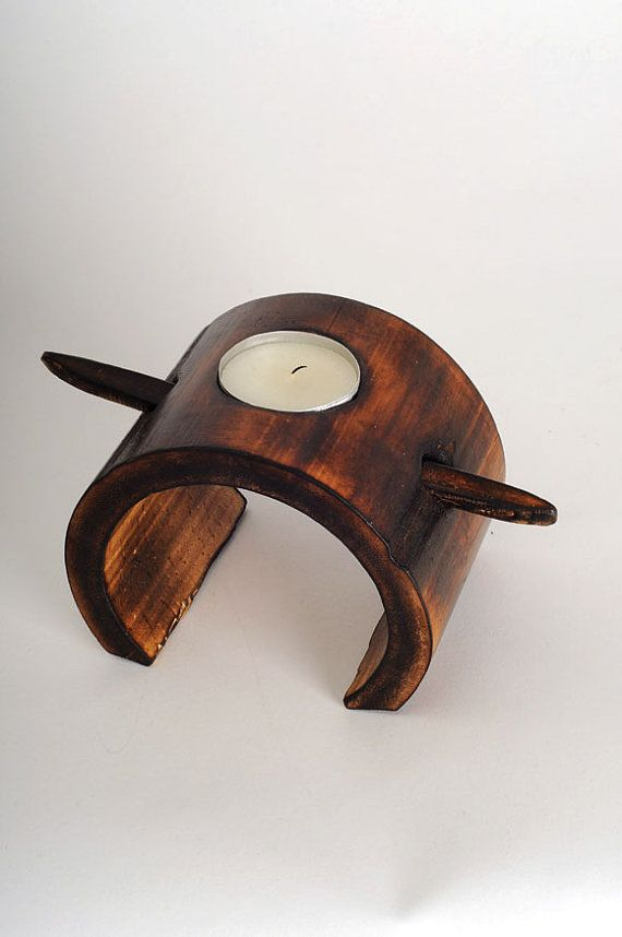 bamboo candle holder fire cured, wooden gift, bamboo gift, bamboo decoration, hand carved
