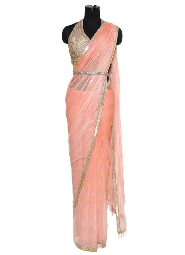 strand-of-silk-indian-fashion-designers-raakesh-shaded-coral-saree-ra-aw13-snb-bsp-2-front.jpg (600×825)
