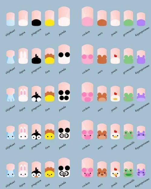 Ejemplos de decoración de uñas con animalitos de granja   Decoración de Uñas - Manicura y NailArt