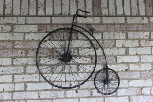 Details About Vintage Golden Metal Penny Farthing Bicycle