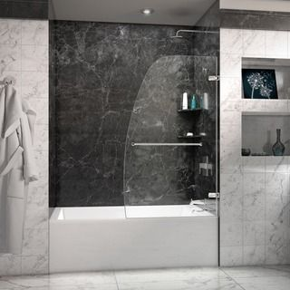 DreamLine Aqua Uno 34x 58-inch Single Panel Hinged Tub Door
