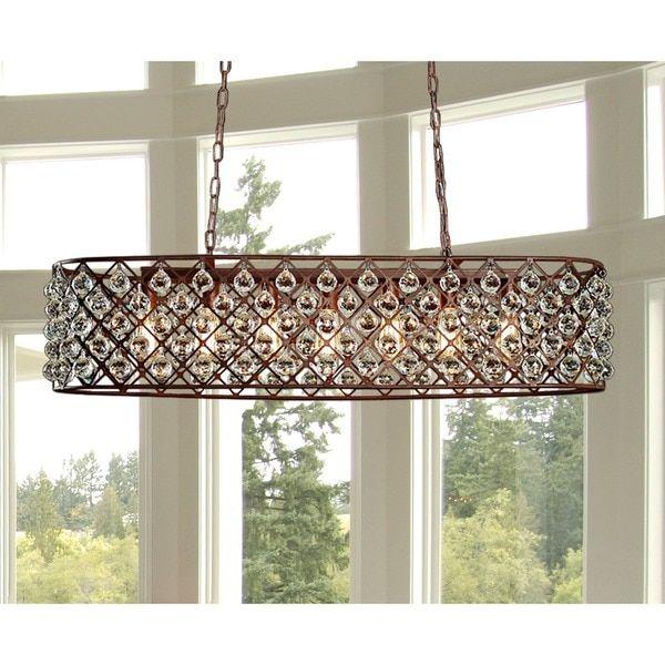 Shekinah 6-light Rusty 40-inch Edison Chandelier with Bulbs