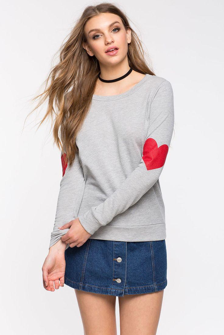 Свитшот Размеры: S, M, L Цвет: серый Цена: 1353 руб.     #одежда #женщинам #свитшоты #коопт