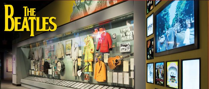 The Beatles Exhibit at the Rock and Roll Hall of Fame and Museum in Cleveland Ohio