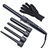 inkint 5 in 1 Multifnction Salon Hair Curler Kit For Lady Girl Woman Ceramic Barrel Waver Curling Wand for Hair Styling (Black) - http://www.hairanbeauty.com/inkint-5-in-1-multifnction-salon-hair-curler-kit-for-lady-girl-woman-ceramic-barrel-waver-curling-wand-for-hair-styling-black/