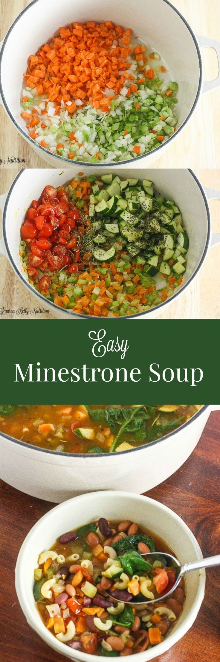Healthy and delicious, this Easy Minestrone Soup can be made in 30 minutes! From…